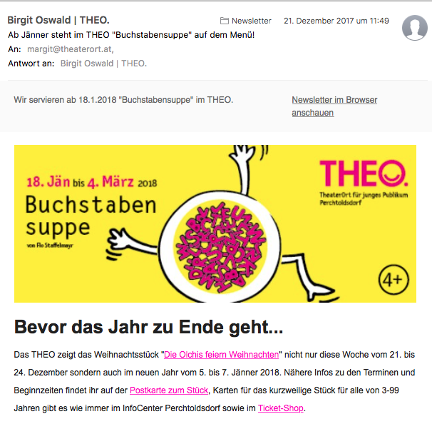 Screenshot THEO-Newsletter