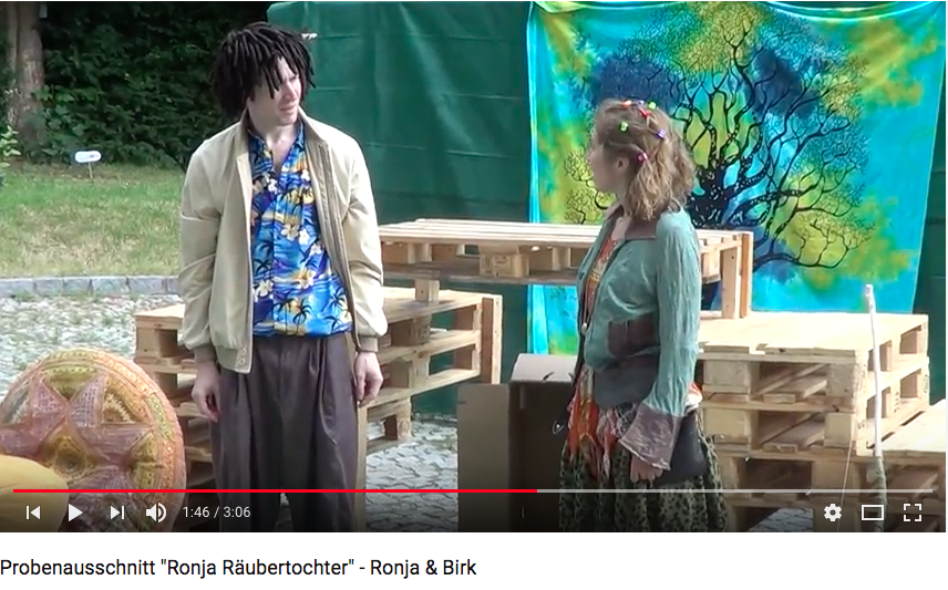 Screenshot YouTube Probenvideo Ronja